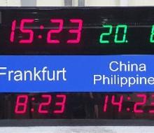 서울 카렌다 5개국 시계